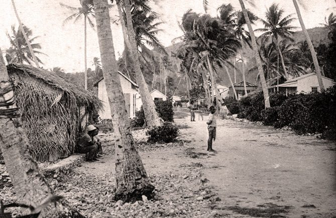 Village de Moumu à Makatea