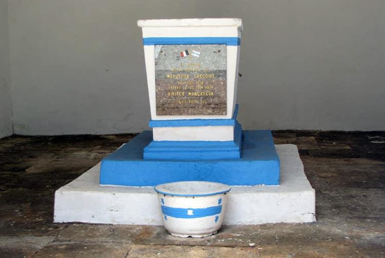 Tombeau du Roi Maputeoa de Mangareva. Photo Polynelise