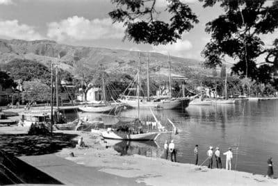Le quai de Papeete en 1938. Photo O. Rudeen Allred (Rutena) – LDS Missionary Tahiti Mission