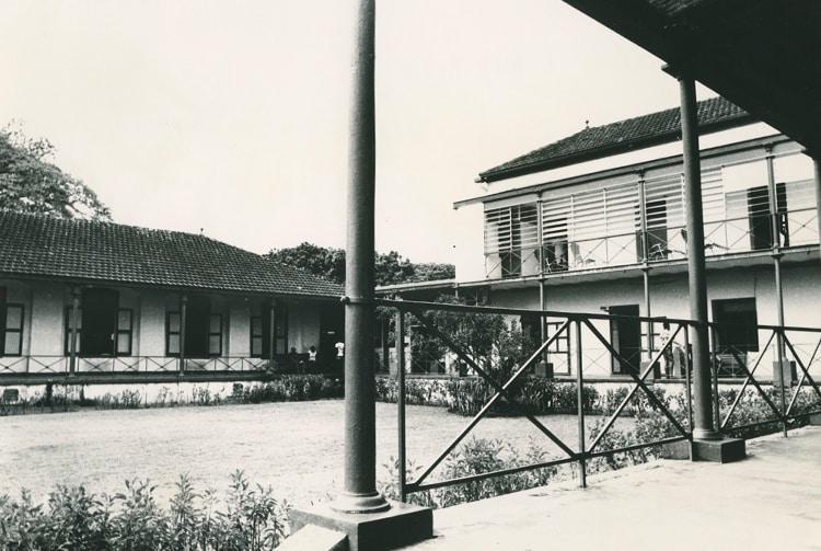 Ancien hôpital colonial Vaiami à Papeete.
