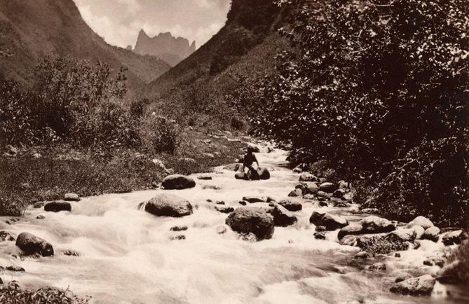 La vallée de de la Fautaua en 1884