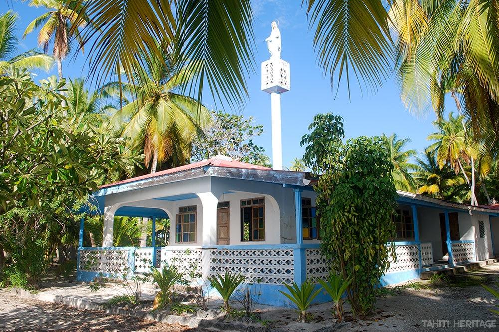 Eglise Marie-Immaculée, Reine des nations de Paparara, Aratika © Tahiti Heritage