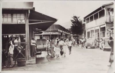 Une rue de Papeete en 1940