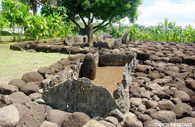 Marae Tefana à Faa'a. © Tahiti Heritage