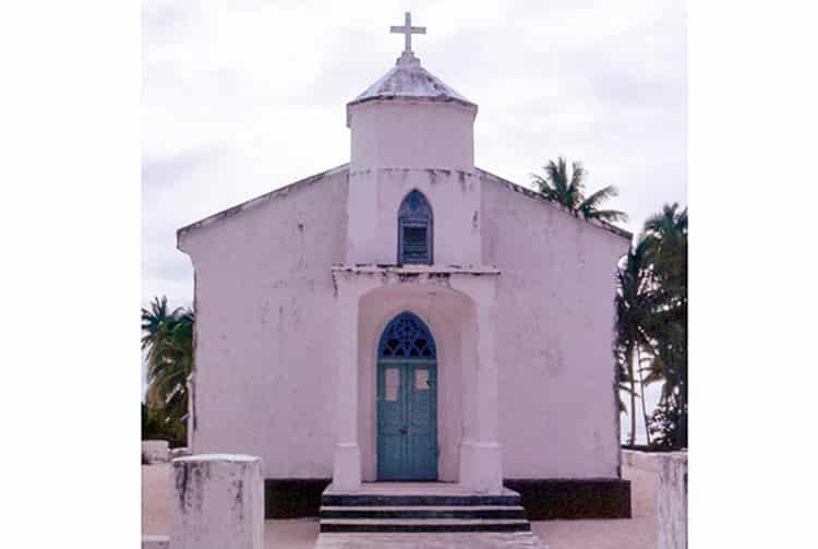 Ancienne église de Faaite vers1960