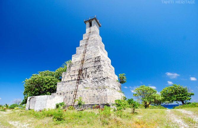 Vieux phare de Topaka à Fakarava. Tuamotu © Tahiti Heritage