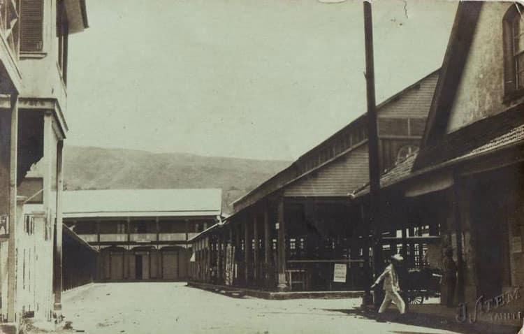 Le marché de Papeete en 1937.