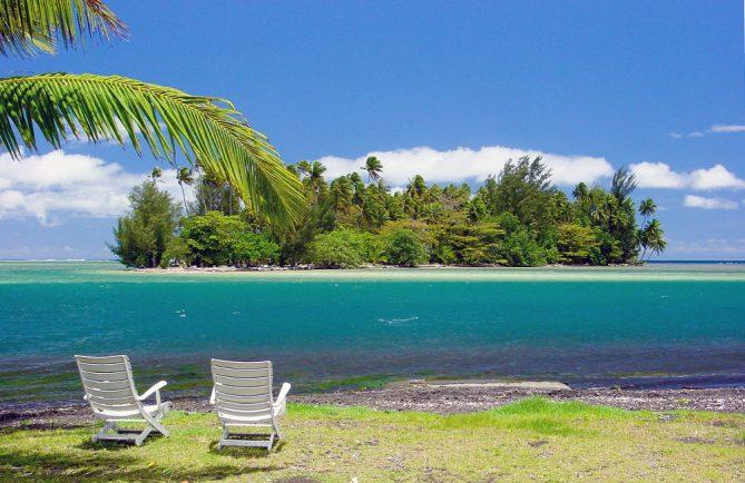 Motu Puuru à Mataeia Tahiti. © Tahiti Heritage
