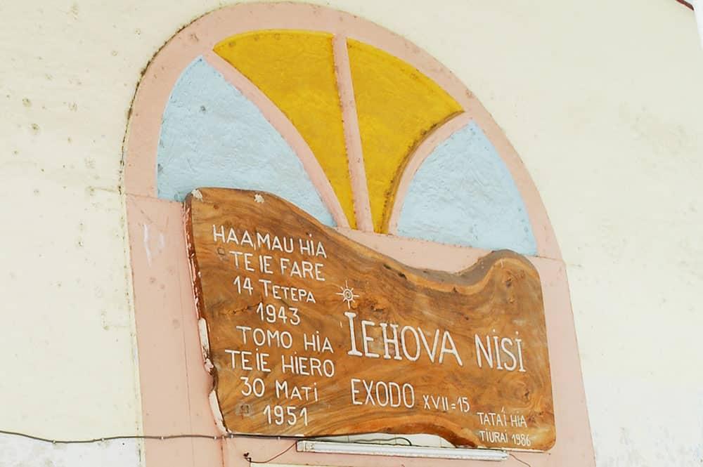 Fresque du temple protestant de Maharepa