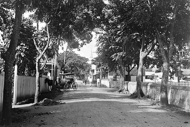 Rue de Rivoli à Papeete en 1902. Photo Lemasson