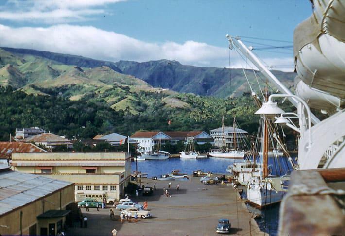 Port de Papeete vers 1950