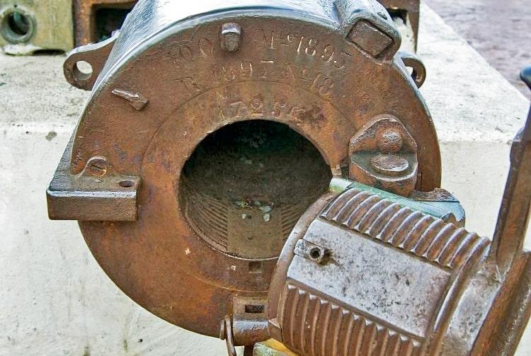 Détail du canon de la canonnière La Zélée