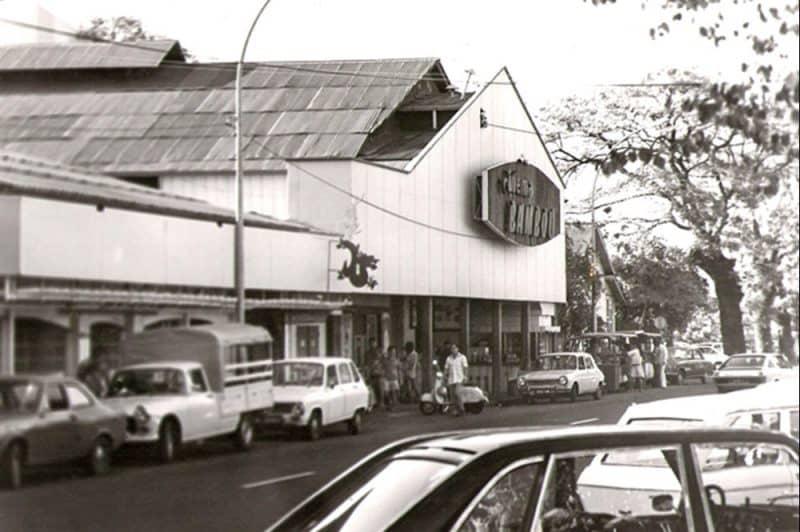 Le cinéma Bambou de Papeete en 1965. Photo Pierre Carabasse