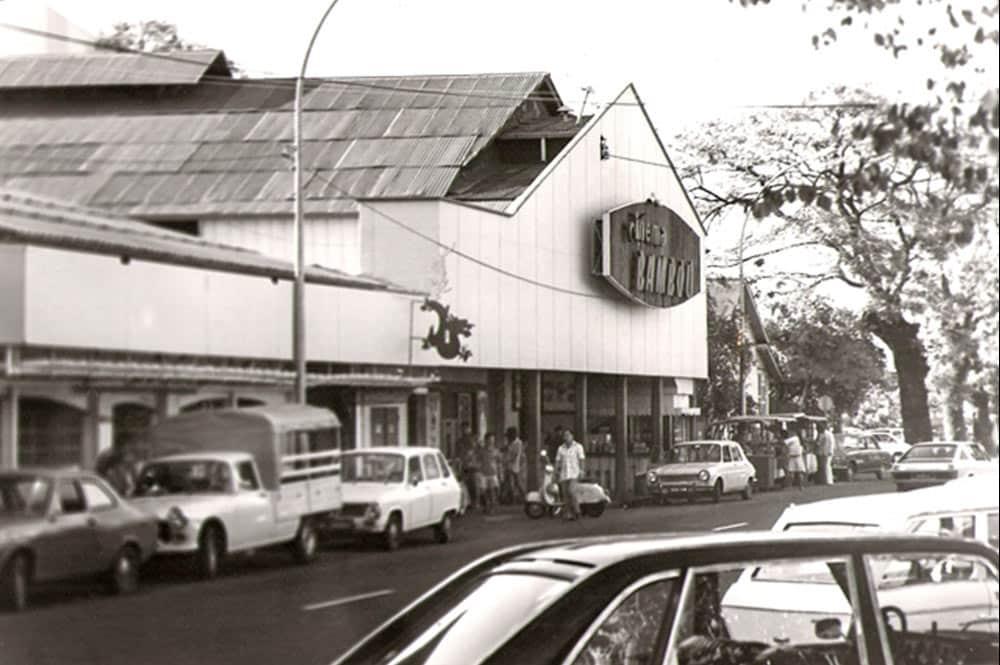 Le cinéma Bambou de Papeete en 1965