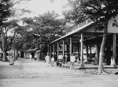 Papeete, la place du marché en 1897