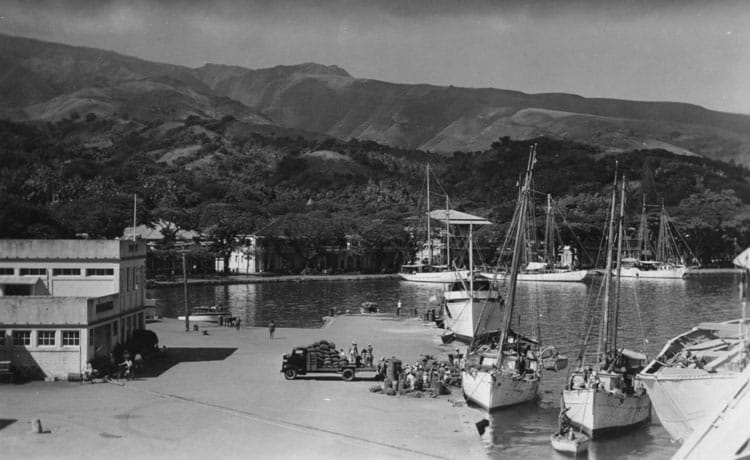 Port de Papeete en 1946.
