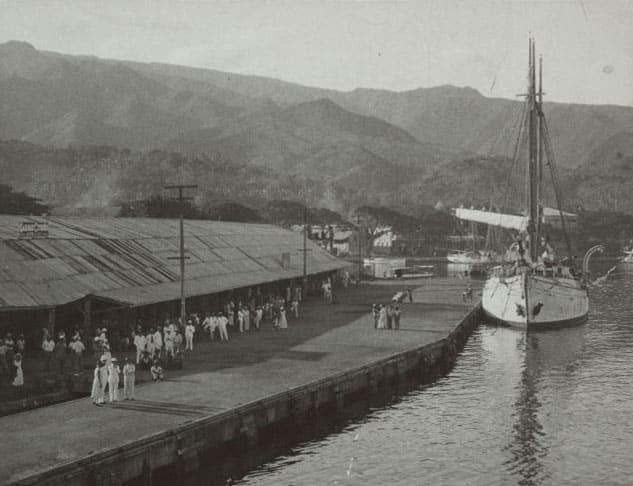 Le quai de Papeete en 1933.