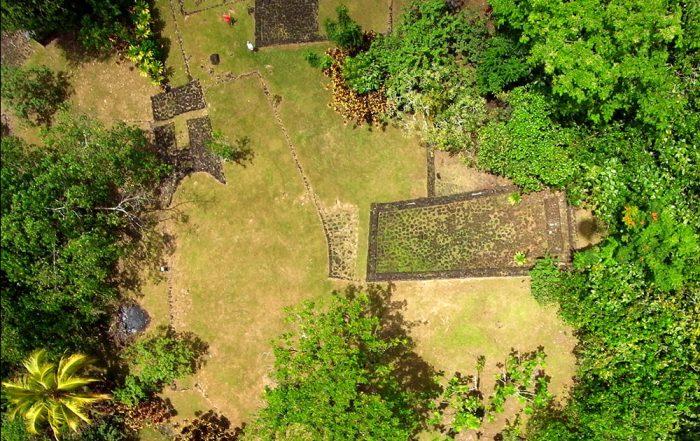 Site archéologique de Farehape, vallée de Papenoo. Photo Pierre Lesage
