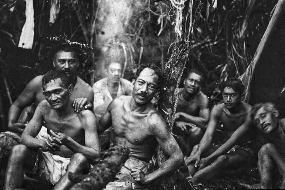 Chasseurs de la vallée de la Papenoo en 1918. Photo Bjarne Kroepelien