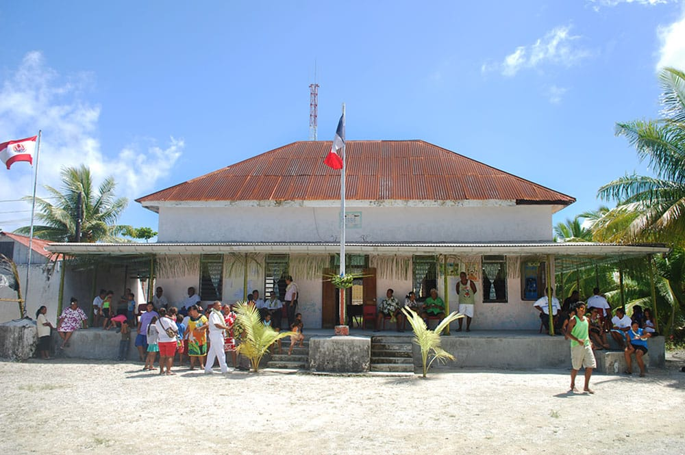 La mairie de Kauehi en 2013