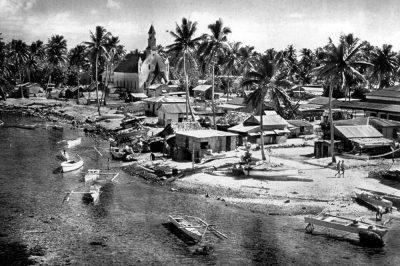 Village de Takaroa 1960 Photo Grimald