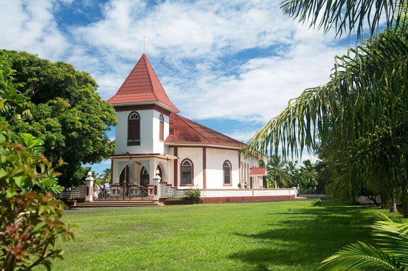 Temple protestant d'Arue, Tahiti. © Tahiti Heritage