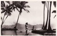 Bord de mer à Punaauia en 1952