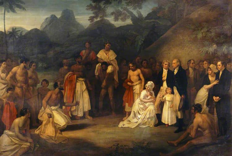 The cession of the district of Matavai in the island of Otaheite to Captain James Wilson for the use of the missionaries