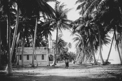 Eglise de Fakarava Tuamotu en 1898. Photo Lemasson