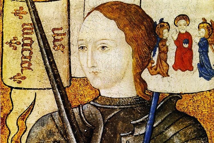 Portrait de Jeanne d'Arc, selon une miniature du XV° siècle, musée de Rouen.