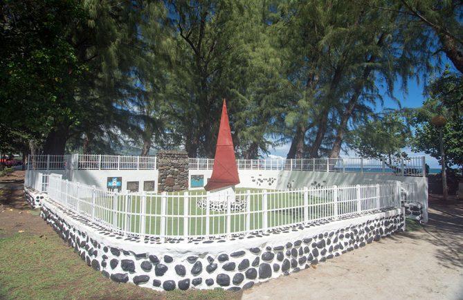 Le monument de l'arrivée de l'évangile, pointe vénus, en 2015 © Tahiti Heritage