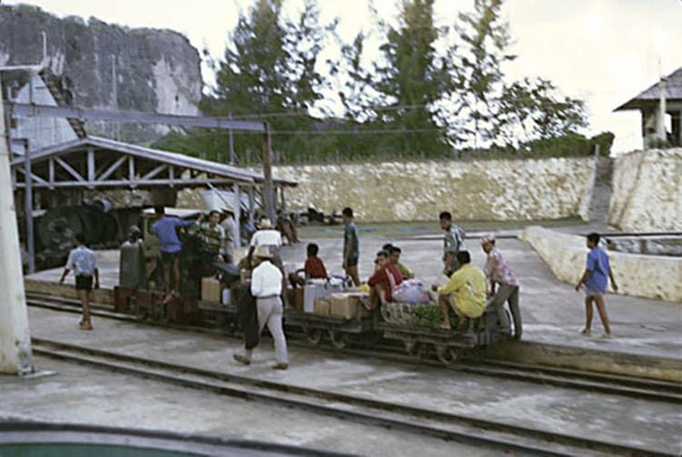 Départ à Temao du funiculaire en 1965