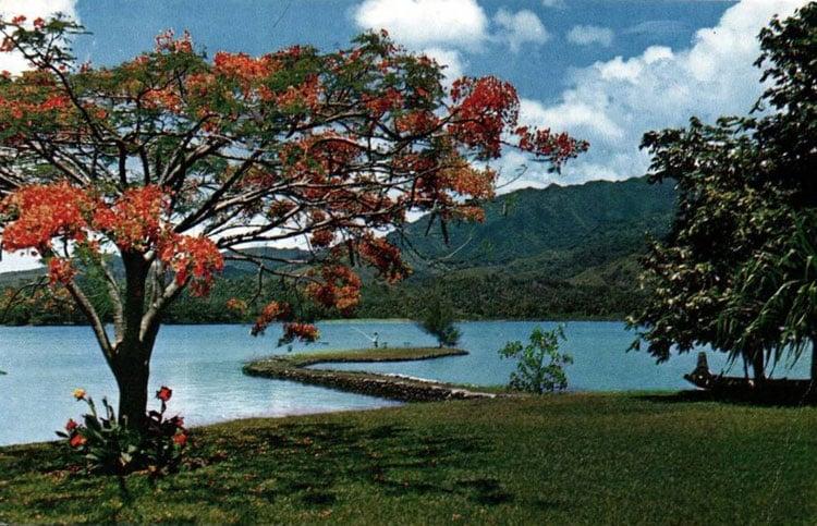 Port Phaëton, isthme de Taravao en 1964