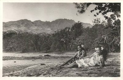 Rivage vers Paea en 1950