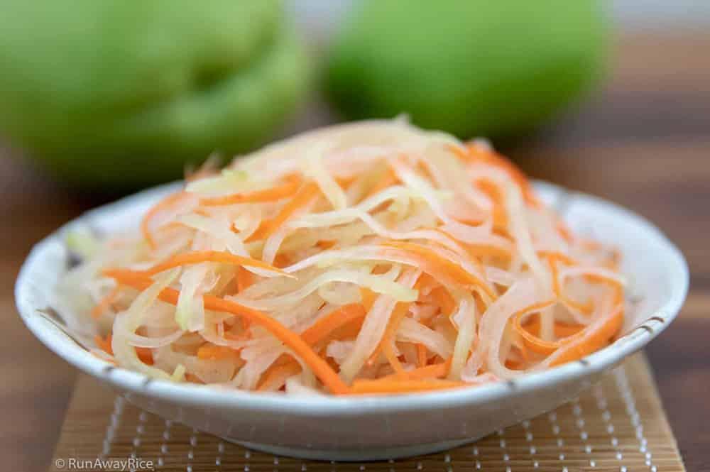 Pickle de chayotte et carotte