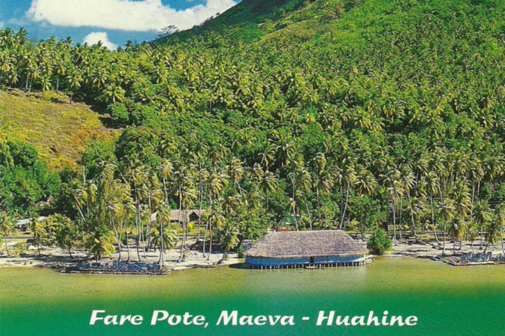 Le Fare pote de Maeva, à Huahine en 1970