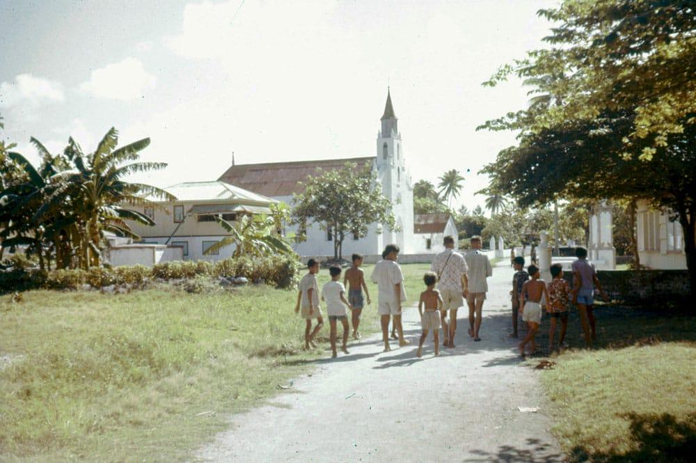 Eglise de Tiputa en 1958