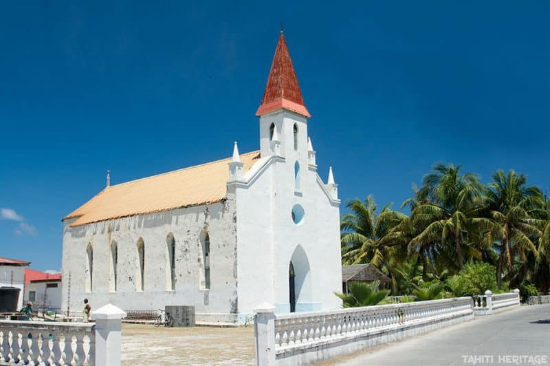 Eglise de Tiputa - Rangiroa © Tahiti Heritage