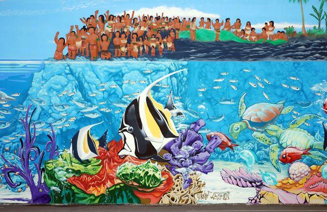 Fresque de Nemo, Arue, Tahiti
