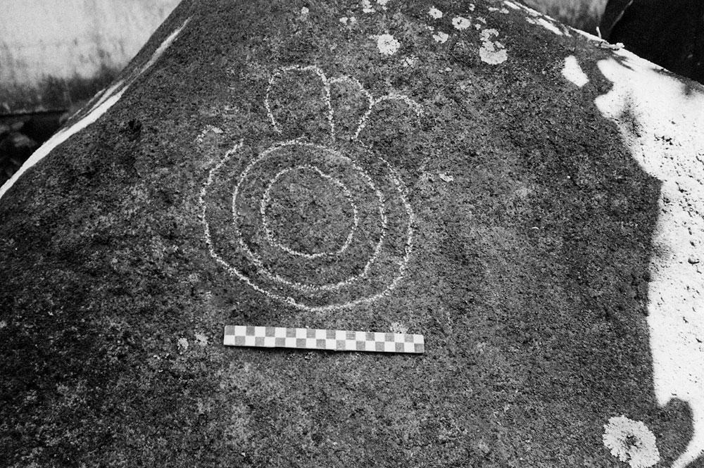 Pétroglyphe de Arue, Tahiti. Photo Heidy Baumgartner