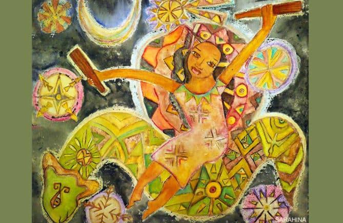Hina, peinture de Sarahina