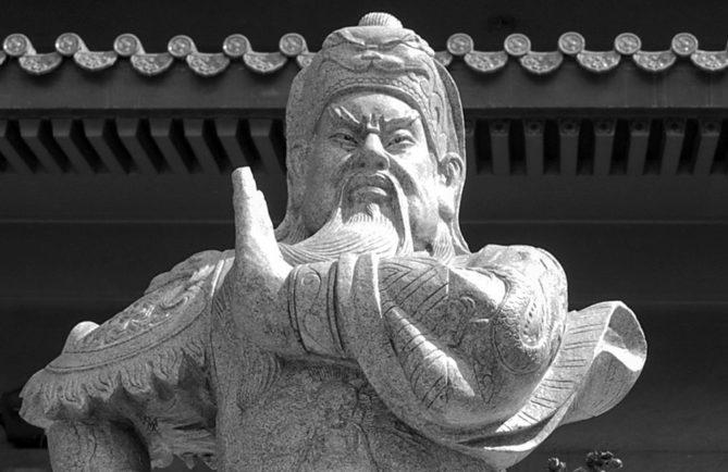 Statue de Kanti, temple chinois de Papeete, Tahiti © Tahiti Heritage