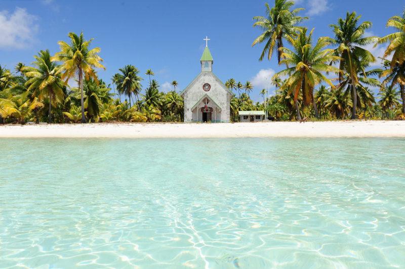 Eglise de Tematahoa, à Anaa. Photo Luca Gargano