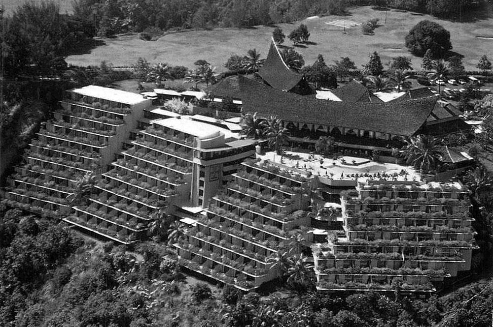 Ancien hôtel Taraha'a sur la colline du Tahara'a à Arue Tahiti