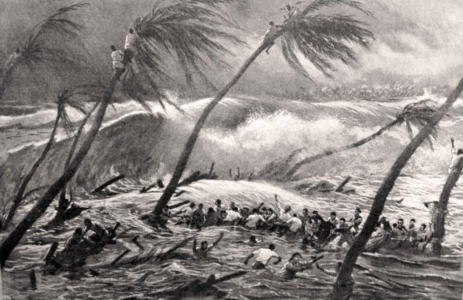 Cyclones à Hikueru (Tuamotu) en 1903