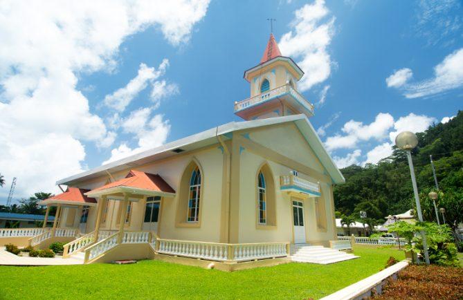 Temple protestant de Tiarei, Hitiaa o te ra, TAHITI