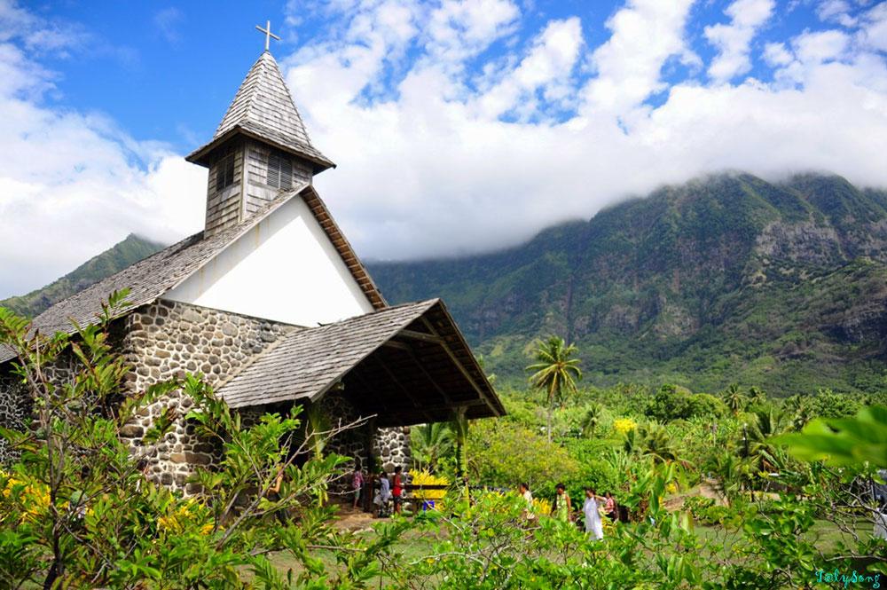Eglise Notre-Dame du Sacré-Coeur, à Taaoa, Hiva Oa. 2013. Photo TalySong