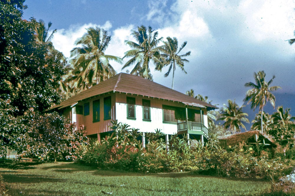 Maison Kellum à Opunohu, Moorea en 1958. Photo Sea Chanty