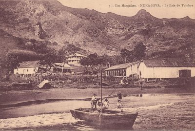Baie de Taihoae à Nuku Hiva en 1918