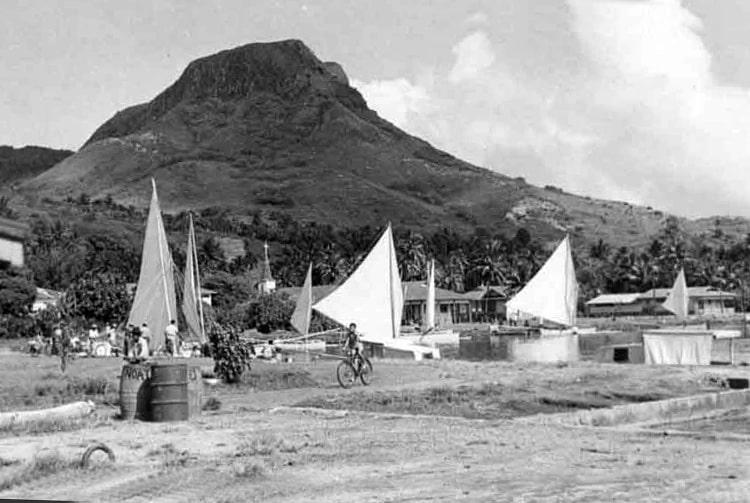 Village d'Uturoa, Raiatea en 1960